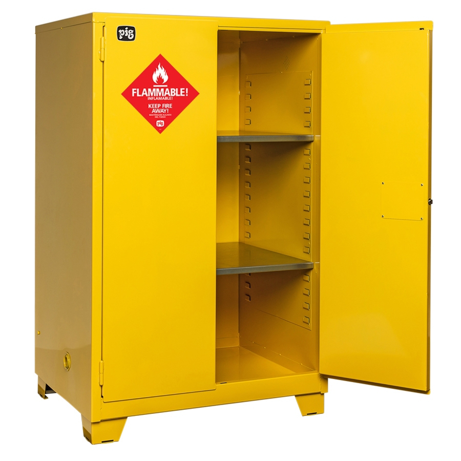 CAB730PIG® Highrise Flammable Safety Cabinet  sc 1 st  New Pig & Flammable Safety Cabinets FAQs - Expert Advice