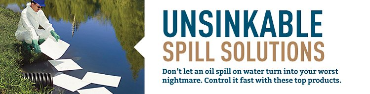 Contain and clean up waterborne spills before they spread.