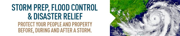 Storms can wreak havoc on employees, facilities and inventory. Use PIG products to be ready before the storm strikes.