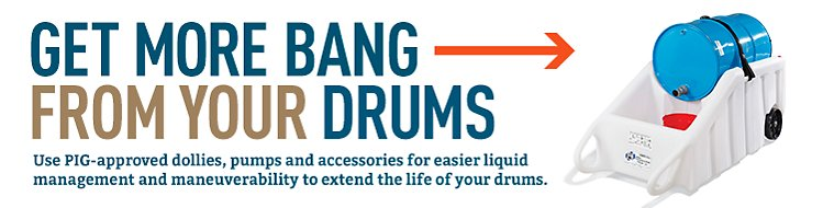 Get more bang from your drums when you add PIG-approved accessories.