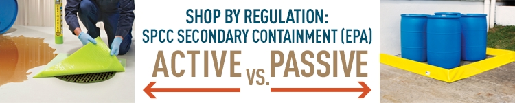 SPCC's Active vs. Passive containment: deploy devices on the spot or use pre-emptive, permanent containment.