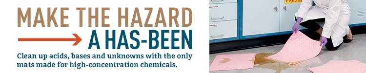 Make the hazard a has-been: clean up acids, bases and unknowns.