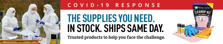 COVID-19 Response the supplies you need are in stock and available to ship same day from New Pig