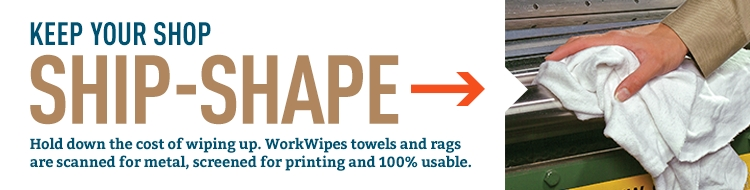 Top-quality, PIG-approved shop towels and rags are durable, absorbent, scanned for metals and screened for printing.