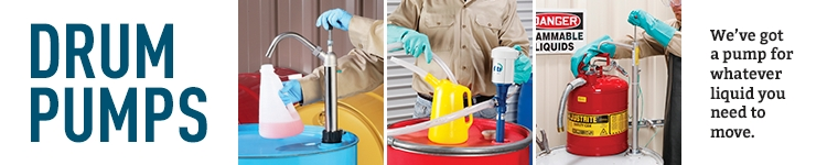 Drum Pumps Dispense and transfer liquids easily and safely with manual or powered drum pumps