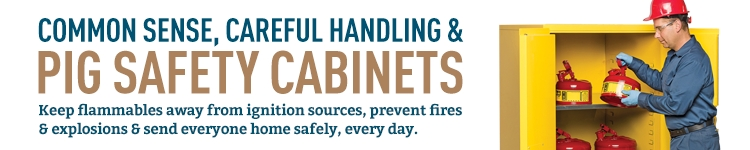 PIG Flammable Safety Cabinets are the best you can buy to safely store flammable liquids — and they all come with a lifetime guarantee.