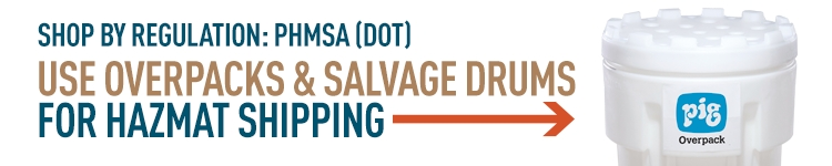 DOT Transporting Haz Materials: use overpacks & salvage drums for safe shipping.