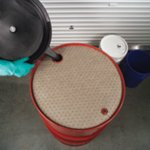 Oil-Only Barrel Top Absorbent Mat