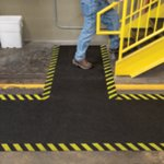 Safety Border Mat with Adhesive Backing