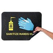 Health & Hygiene Adhesive-Backed Floor Signs