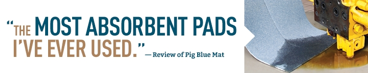 Pig Blue Mat Pads are the most absorbent you'll ever use.