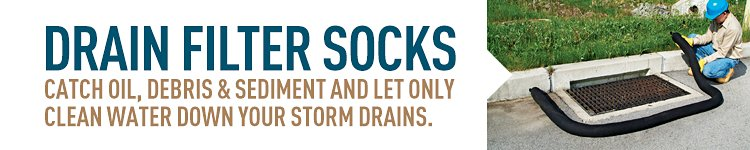 Drain filter socks collect pollutants and protect your water supply.