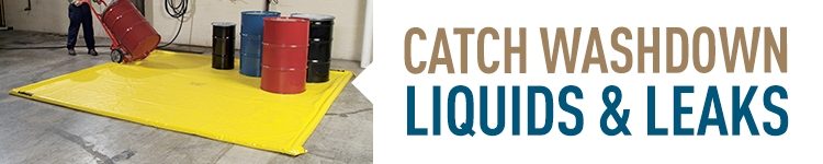 Catch Washdown Liquids & Leaks