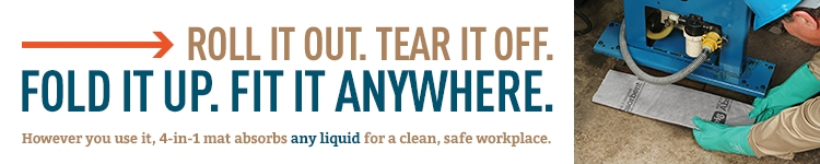 However you use it, 4-in-1 absorbs any liquid for a clean, safe workplace.