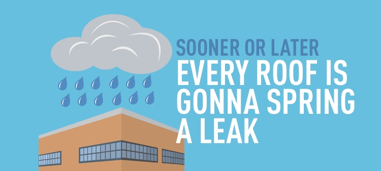 Sooner or Later every roof is gonna spring a leak.