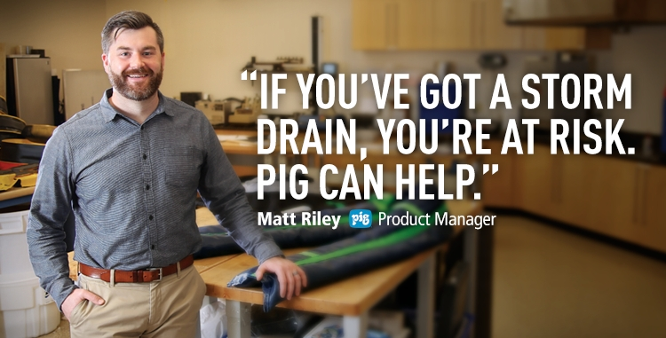 If you've got a storm drain, you're at risk for violations. New Pig can help!