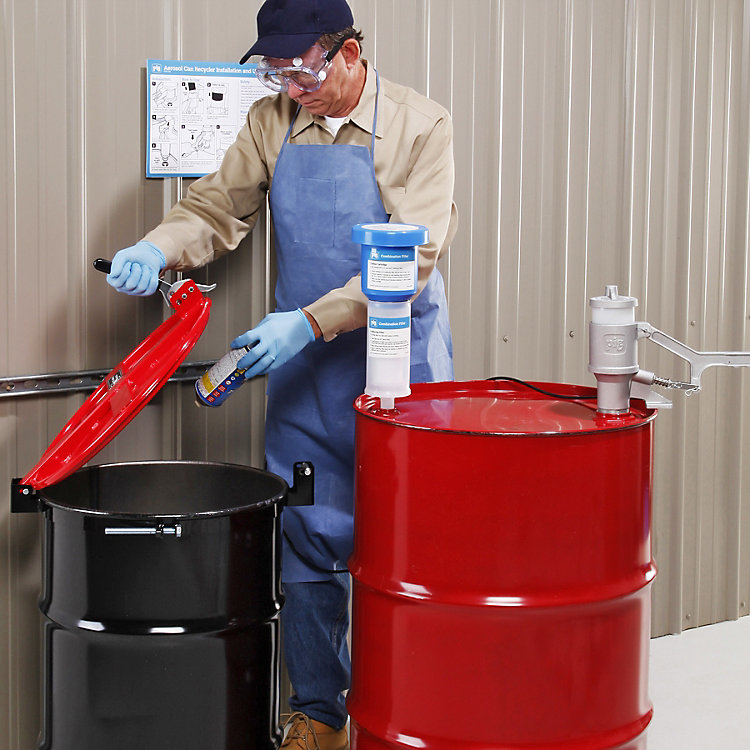 Customer Questions: Can I Have an Aerosol Can Recycler Outside?