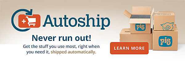 Never run out with Autoship!