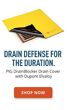 PIG DrainBlocker Drain Cover with Dupont Elvaloy