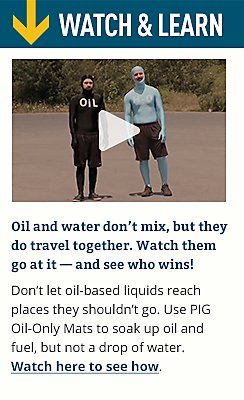 Oil and water don't mix, but they do travel together.  Watch them got at it - and see who wins!
