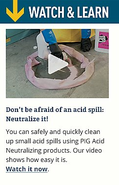 Don't be afraid of an acid spill: Neutralize it!