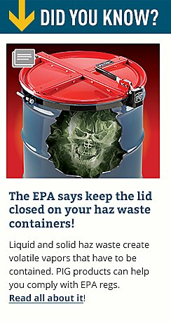 The EPA says keep the lid closed on your haz waste containers!