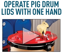 Operate PIG Drum Lids with one hand