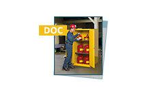 Flammable Cabinet Self-Closing Doors & Colors