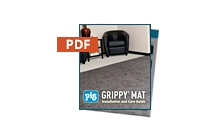 Grippy Mat Installation And Care Guide