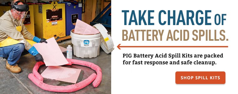 Take Charge of Battery Acid Spills