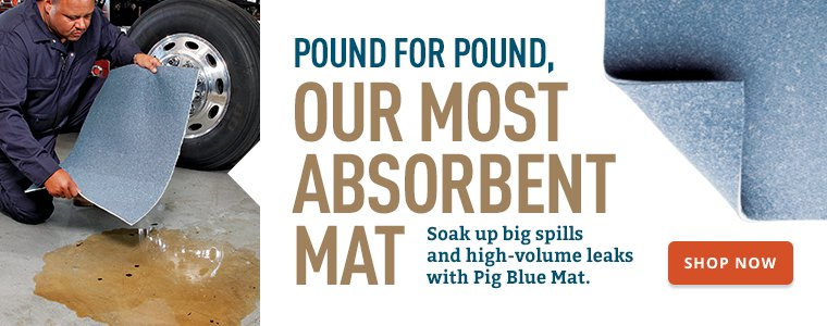 Pound for Pound, Our Most Absorbent Mat