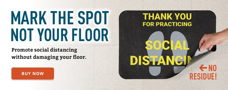 Promote social distancing without damaging your floor Buy Now