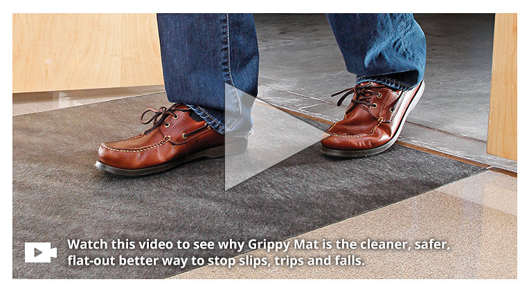 Frustrated with Floor Safety? GET A GRIP - PIG Grippy Floor Mat - No Slip. No Trip. All Grip.