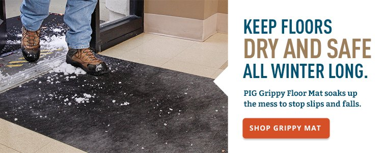 Keep floors dry and safe all winter long.