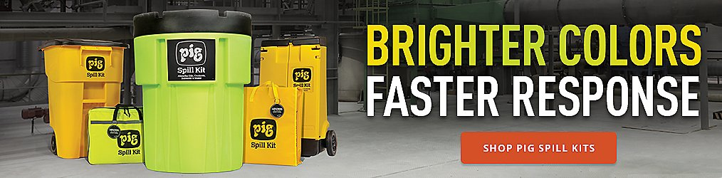 BRIGHTER COLORS FASTER RESPONSE - SHOP PIG SPILL KITS