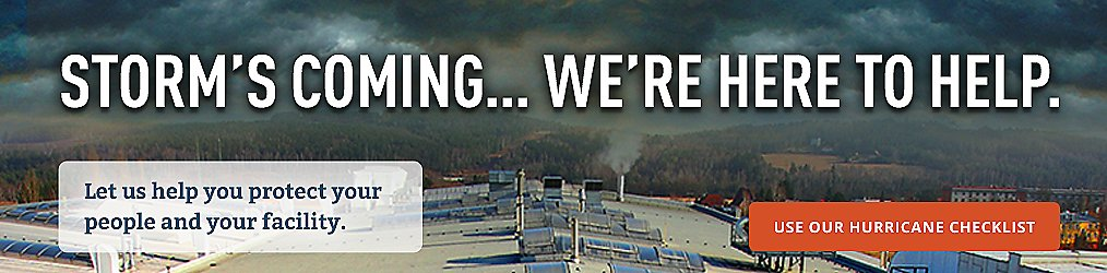 Storm's Coming. . .We're here to help.
