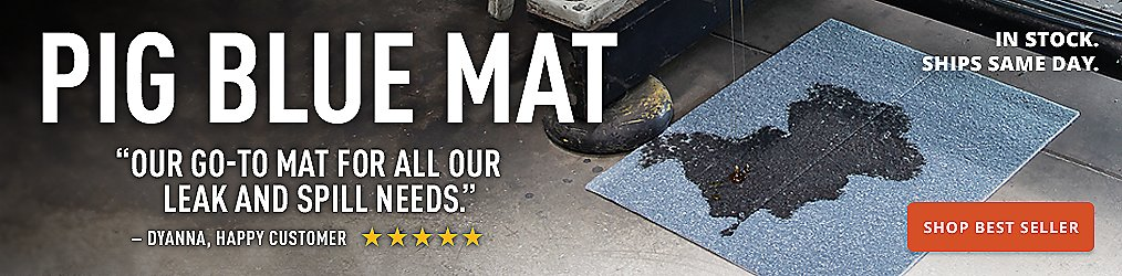Our go to mat for all our leak and spill needs PIG Blue Mat Buy Now