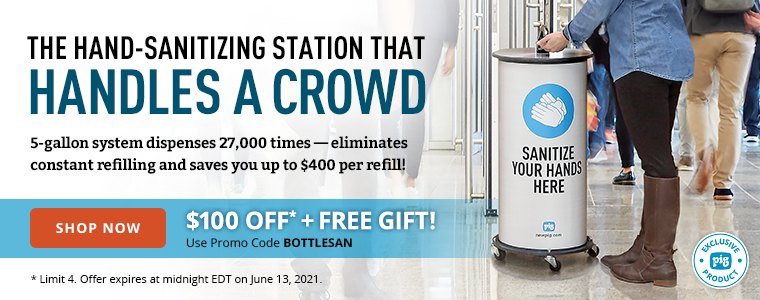 Hand Sanitizing Station that handles a Crowd $100 off Shop Now