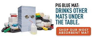 Shop our Most Absorbent Mat PIG Blue Mat