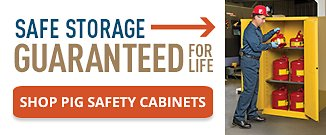Safe Storage Guaranteed for Life Shop PIG Safety Cabinets