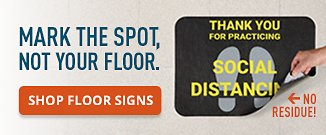 Mark the Spot Not your Floor Shop Floor Signs