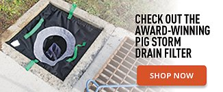 Check out the PIG Adjustable Frame Storm Drain Filter