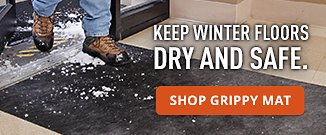 Keep winter floors dry and safe. Shop Grippy Mat