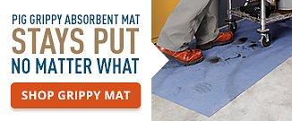 Pig Grippy Absorbent Mat Stays Put No Matter What