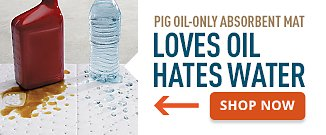 Pig Oil-Only Absorbent Mat Loves Oil Hates Water. Shop Now