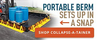 Portable Berm Sets Up in a Snap