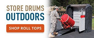 Store Drums Outdoors Shop Roll Tops