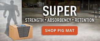 Super Strength Absorbency Retention Shop Pig Mat