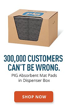 PIG Absorbent Mat Pads In Dispenser Box