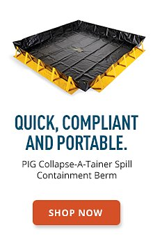 PIG Collapse-A-Tainer Spill Containment Berm